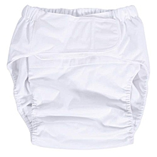 Washable Breathable Ultra Absorbent Adult Diaper (White)