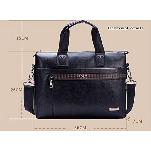 Fashion Men s Business Briefcase Commuter Handbag Single Strap Bag-Black a9599d03bf45