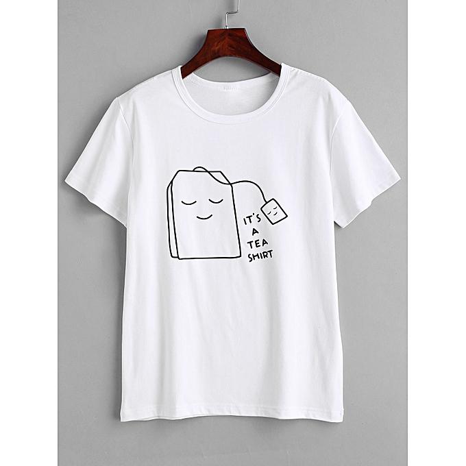 3fd6daecf ZAFUL Tea Graphic Short Sleeve T-shirt,White @ Best Price | Jumia Kenya