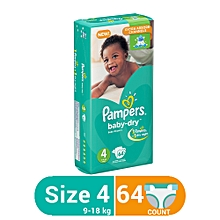 Baby Dry Diapers  (9-18kg)  Size 4, Count 64