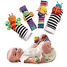 Vvcare BC-KF001 4Pcs Lovely Animal Baby Infant Kids Rattles Finders Glove Toys Hand Foot Socks Set-