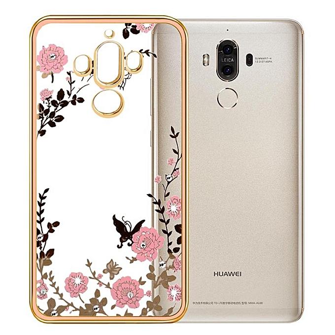 Case For Huawei Mate 9 Secret Garden Premium Soft TPU Plating Bling Glitter .