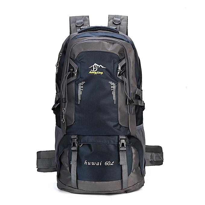 63515606b4 Large 60L Outdoor Hiking Backpack Waterproof Camping Luggage Rucksack  Travel Bag