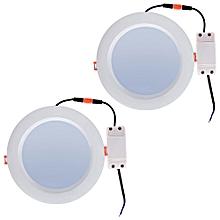 Lightme 2pcs 6 Inch 18W 2700 - 3000K 1400 - 1500LM SMD2835 LED Down Light Energy Efficient Lighting WHITE 6 INCH