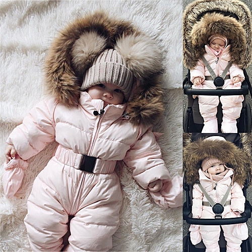 4bca1429a7e3 Generic Winter Infant Baby Boy Girl Romper Jacket Hooded Jumpsuit ...