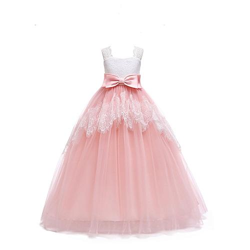 Fashion Girl Kids Ruffles Lace Party Wedding Dancing Dinner Dresses