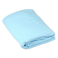 1XNew Microfiber Towel 70X140CM Absorbent Bath Towel Light Blue