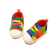 bluerdream-Baby Girl Boy Soft Sole Anti-slip Sport Shoes Socks Canvas Sneakers OR/11- Orange