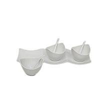 3 Bowl Chutney Platter - White