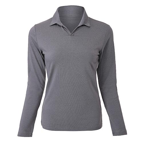 Fashion V-Neck Slimming Women Shirt - Dark Gray   Best Price  90b62cd8b4