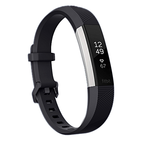 For Fitbit Alta Smart Watch Silicone Watchband, Length: about 23.8cm(Black)