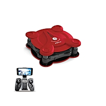 Foldable Pocket Drone FQ777 FQ17W WIFI FPV With 0.3MP Camera Altitude Hold Mode RC Quacopter RTF - Red