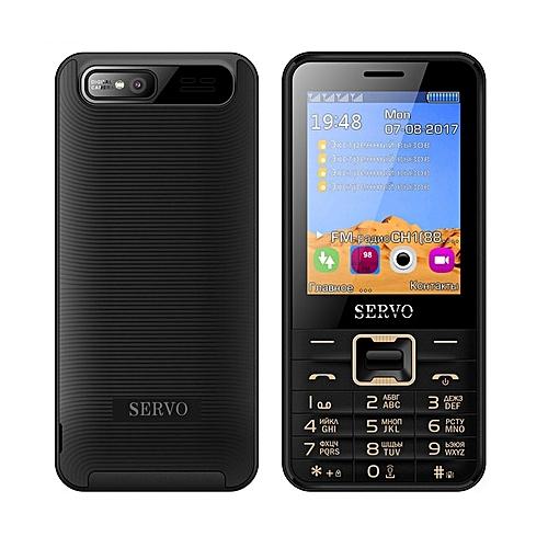 SERVO V8100 2.8 inch HD Large Screen 1100mAh 4 SIM Card Quad Standby Flashlight Feature Phone