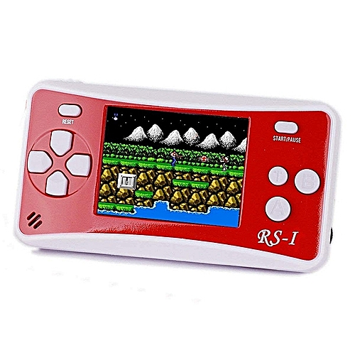 "RS-1 Handheld Game Console For Children,Retro Game Player With 2.5"" 8-Bit LCD Portable Video Games,Built-in 152 Classic Old School Games Entertainment(Red)"