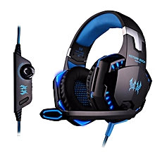 LEBAIQI Kotion EACH G2000 LED Bass Stereo Surrounded Over-Ear Gaming Headphone with Mic for Computer PC