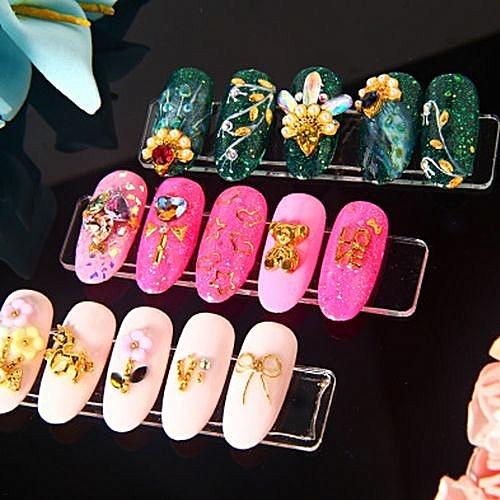 Buy Generic 10pcs Nail Art False Tips Sticks Practice Display Fan