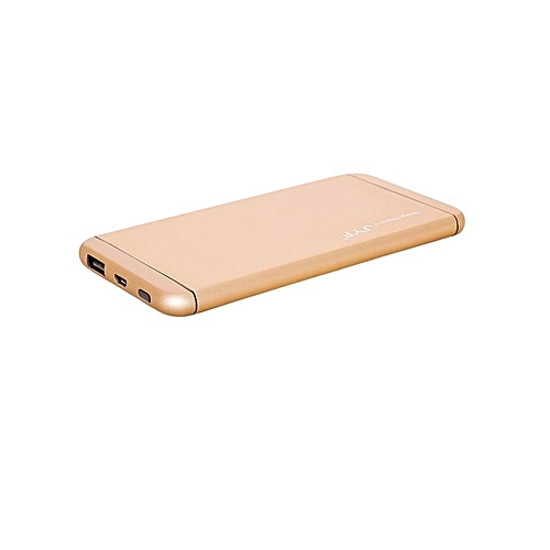 Power Bank 10,000 mAh Super Slim Design With Polymer Battery - Gold