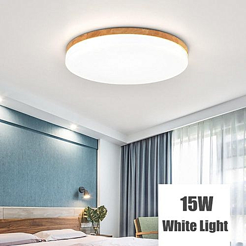 6a95881a416 Generic Modern Simple Square Wood LED Ceiling Light Living Room Bedroom  Home Lamp
