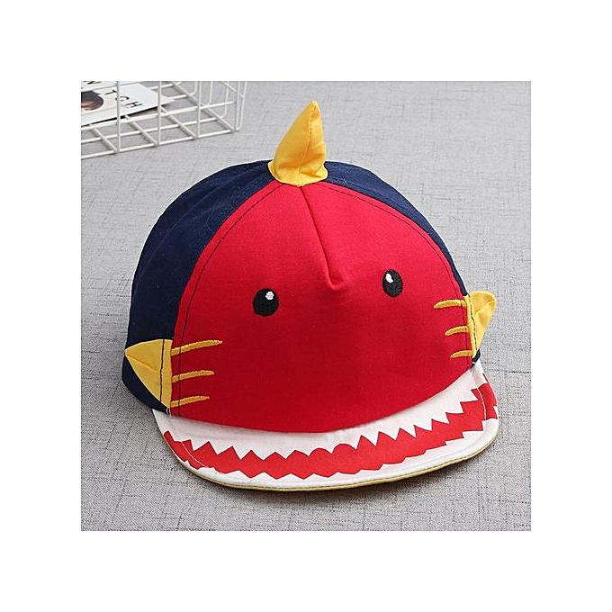 af14e7ba0d1 Braveayong Baby Hat Toddler Shark Cotton Kids Baseball Hat Boy Girls Hats  Caps -Red