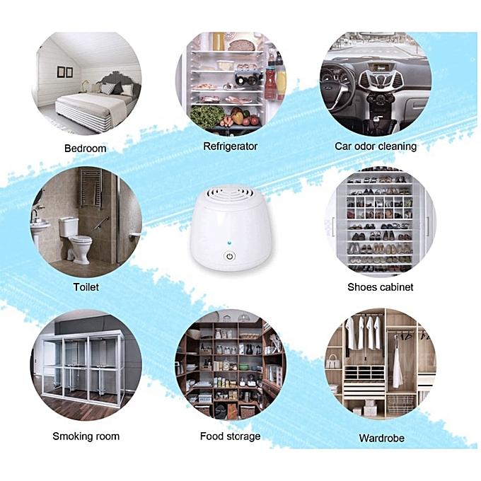 Ionic Ozone Generator USB Portable Air Purifier Remove Cigarette Smoke Odor  Smell Bacteria Mini Air Cleaner Refrigerator Car QCJNG
