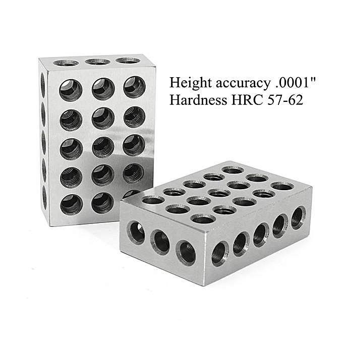 Buy Generic Machifit 2pcs 1x2x3 Inch Blocks 23 Holes Parallel ...