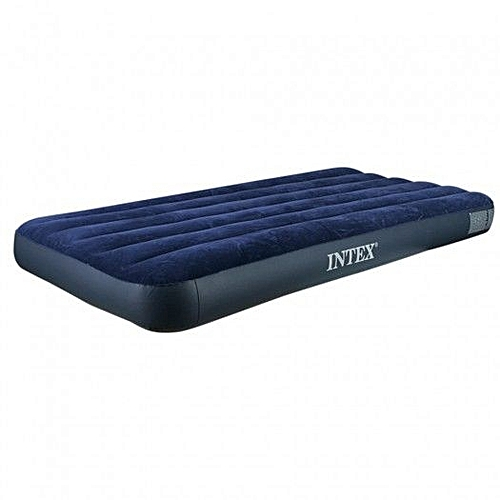 Intex Generic Intex Inflatable Mattress Air Sofa Bed Pump Blue