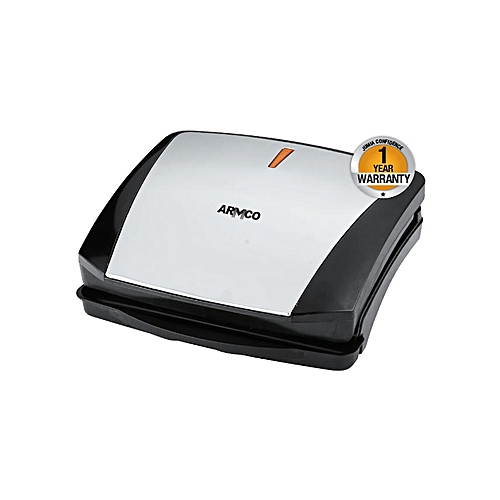 AST-T3000GB - MultiPurpose Grill Sandwich Maker - 1200W - Black & Silver