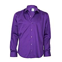 Purple Shirt With A Purple Pocket Square