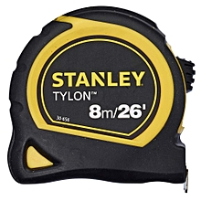 "Tylon Measuring Tape - 8m/26"" - Black and Yellow"
