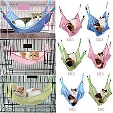 Breathable Pet Cat Dog House Hammock Bed Blue L