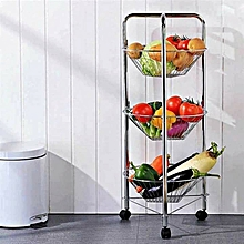 3 Tier Fruit Rack - Silver
