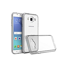 Samsung Galaxy J7 Back Cover - Clear With Clear Edges