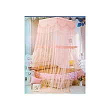 Square Top Decker mosquito net Free Size- Pink