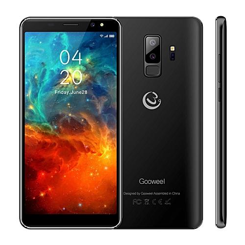 Gooweel S9 Smartphone 5.72-Inch 18:9 Full Screen Quad Core Android 5.1,5MP+2MP Camera 2500mAh 3G Mobile Phone GPS Bluetooth - Black