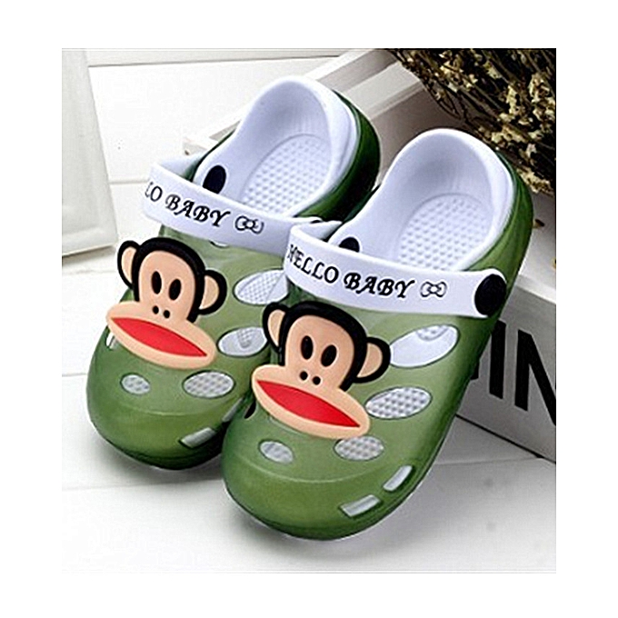 bba82518272f8 Kids Cartoon Sandals Children Slippers Soft Sole Flip Flops Non-slip Hollow  Beach Shoes Outdoor