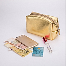 bluerdream-Women Waterproof Cosmetic Bag Storage Bag Make Up Bags Travel Coin Phone Bags -Gold