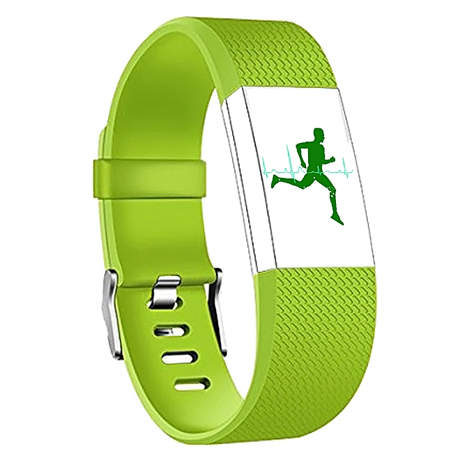 Square Pattern Adjustable Sport Wrist Strap for FITBIT Charge 2 (Green)