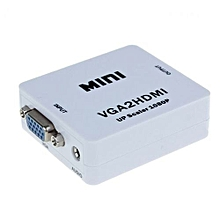 VGA To HDMI HD HDTV Video Converter Box Adapter 1080P Audio Desktop Pc-White