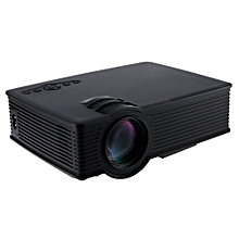 GP- 9 Mini Home Theater 2000 Lumens 1920 x 1080 Pixels Multimedia HD LCD Projector-BLACK