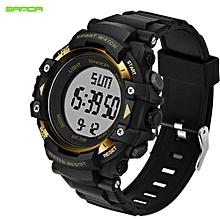 SANDA Men Smart Watch Pedometer Calories Chronograph Fashion Outdoor Sports Watches 50M Waterproof Digital Wristwatches 348