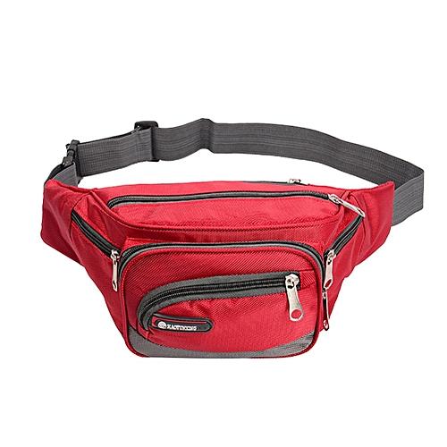 7158b25e996 Generic Waterproof Oxford Fanny Pack Waist Bag for Men Multi-pockets Zipper Belt  Bag Running Sports Waist Pack Large Capacity Bum Bag(Red Color)