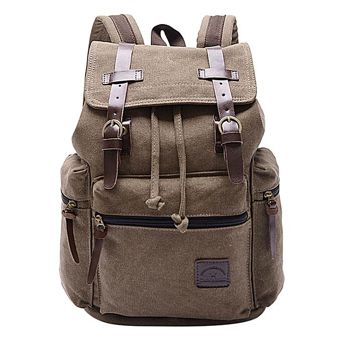 huskspo Womens Canvas Backpack Shoulder Book School Bag Travel Rucksack  Satchel f11cd7dbef