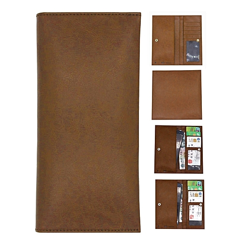 PU Leather Wallet Case Pouch Bag Sleeve Cover for Tecno W1 4 0 inch (Brown)