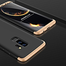 GKK for Galaxy S9+ Three Stage Splicing 360 Degree Full Coverage PC Protective Case Back Cover (Black+Gold)