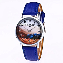 Technologg Watch  Fashion Luxury Women Quartz Feather Wrist Watch Best Gift Sapphire-As Show