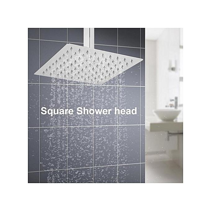 Generic 1pc Modern Square Stainless Steel Rainfall Rain Shower Head