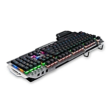 PK - 900 Mechanical Keyboard For Gamers With Backlight 104 Keys-Gun Metal
