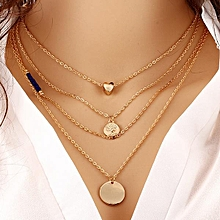 Women Multi Layer Necklace -Gold