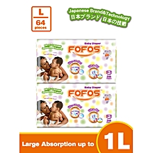Large - Size 4 (9-15kgs) - 32 Diapers (COUNT 64)