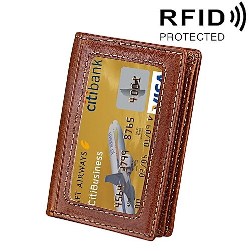 Buy generic genuine cowhide leather solid color card holder wallet genuine cowhide leather solid color card holder wallet rfid blocking coin purse card bag protect case reheart Choice Image
